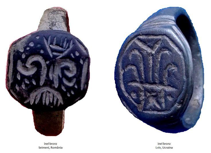 Inelul din bronz de la Seimeni şi inelul din bronz descoperit la Lviv, Ucraina
