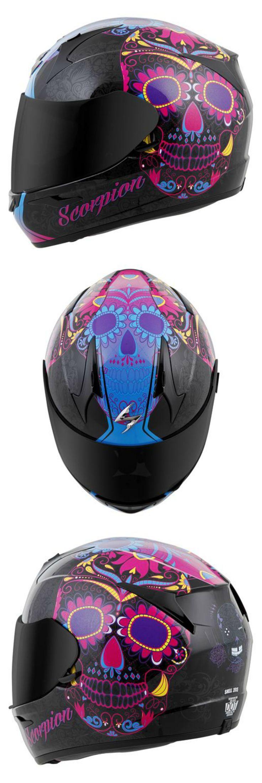 Sugar Skull EXO R410 Motorcycle Helmet Pink