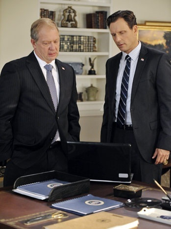 """'Scandal' Case Study: Jeff Perry on the Rift Between Fitz and Cyrus. """"When Fitz screws up, Cyrus puts on his dad hat, and when Cyrus screws up, Fitz is the dad whose love Cyrus must win back,"""" the actor tells THR."""