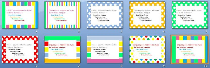 Des cadres Powerpoint tout prêts pour faire des jolis documents colorés     Free powerpoint templates to create nice coloured  documents.