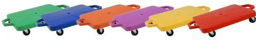 Champion Sports 16in Multi-Colored Heavy Duty Scooter Board with Handles Set by Champion Sports. $131.93. Scooter boards are a fun P.E. and recreational activity that allow for fun variations of your students favorite games both inside and out. Play scooter hockey, create a scooter train, try scooter soccer, or whatever game you can think of. The Heavy-Duty Scooters from Champion Sports are made of 1/5in poly plastic and feature non-marking swivel rubber wheels and side h...
