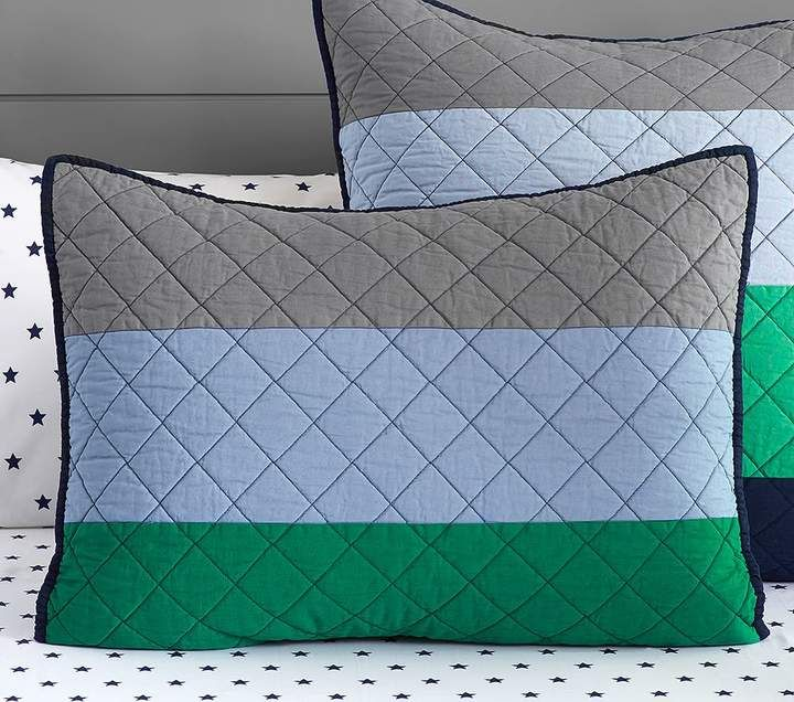 """Pottery Barn Kids /""""Striped/"""" Quilted Standard Sham"""