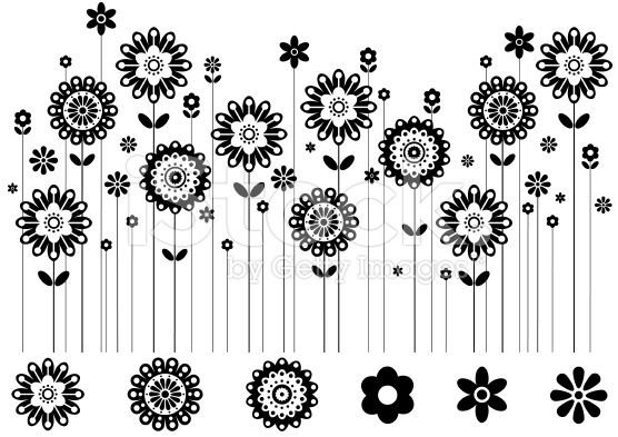 Image result for row of flowers clipart