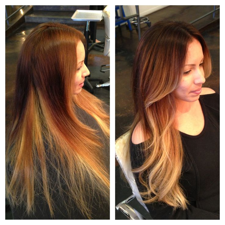 Before and after. Color correction. Andrea miller hair. The lab a salon. Balayage. Ombre. Color specialist. Blonde specialist. San Diego.