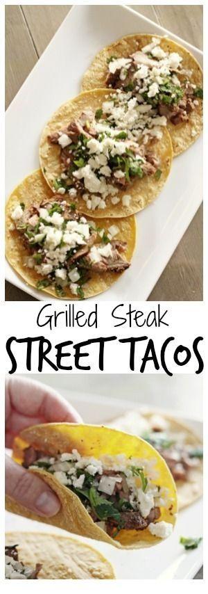 STEAK RECIPES | GRILLED STEAK STREET TACOS