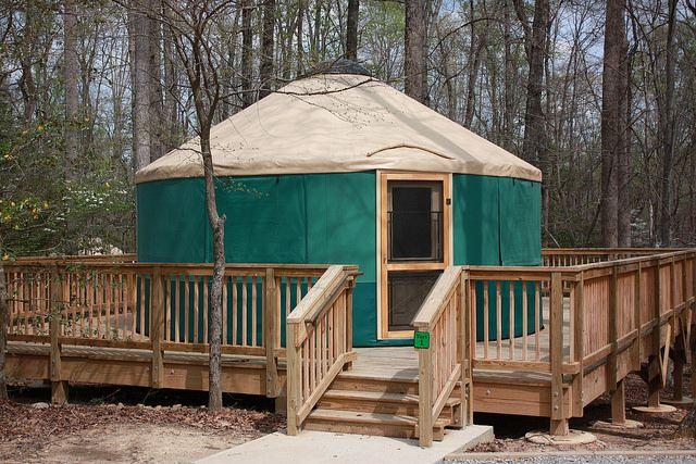 A Yurt At Natural Tunnel State Park Va