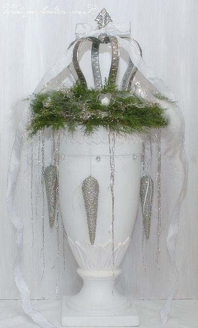 #Weihnachtsdeko #Krone #Adventskranz #ShabbyChic http://Wohngeschichten-von-K.dawanda.com