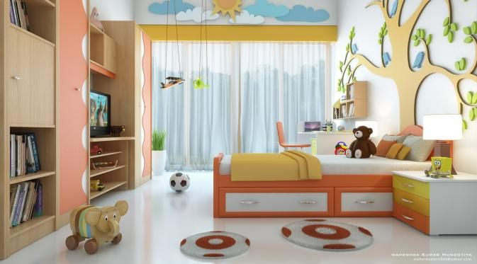 8 Ide Tempat Penyimpanan Barang yang Praktis di Kamar Anak