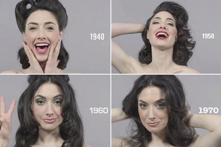 """Oggi per le nostre tendenze moda… uno sguardo al passato con il famosissimo video """"100 anni di Haircare in 1 Minuto"""": www.youtube.com/watch?v=5lXOpq9veLM&list=UU-yX8zpJb9IWtlHwdXkl_Sw Dalle onde scolpite degli anni '30 fino alla sensualità appariscente degli anni '50, e poi lo chignon come Brigitte Bardot e i capelli come le Charlies Angels con riga centrale. Per concludere, i beauty trend più recenti come il frisé con raccolto asimmetrico stile anni '80 e il minimalismo del 2000."""