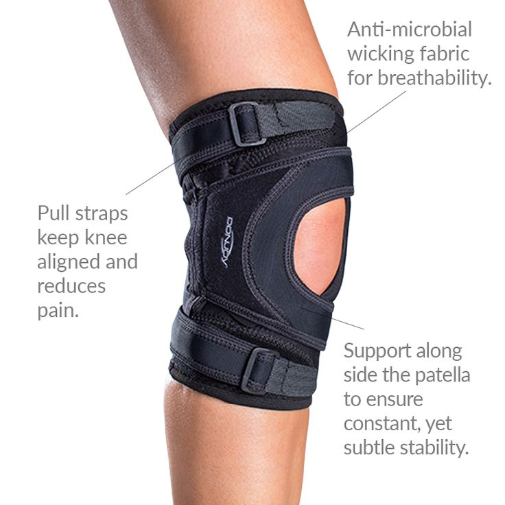 The DonJoy Tru-Pull Lite is a low-profile and extremely comfortable patella support brace for mild to moderate patellar dislocations.
