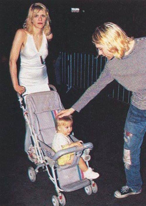 Kurt Cobain, Courtney Love & Daughter, 1992