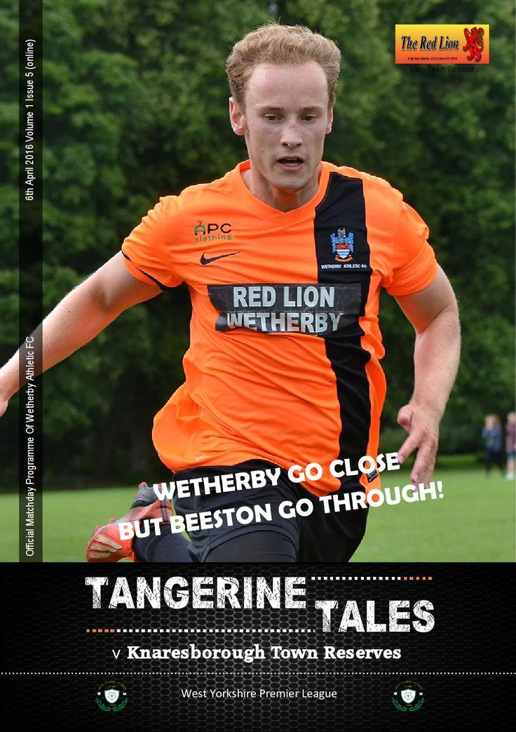 5 Wetherby Athletic v Knaresborough Town Res Official Matchday Programme.  Wetherby Athletic take on Knaresborough Town Reserves in the West Yorkshire Premier Division.