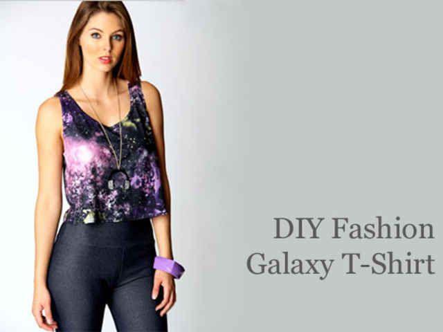 DIY Fashion: Painted Galaxy Print Tee Shirt
