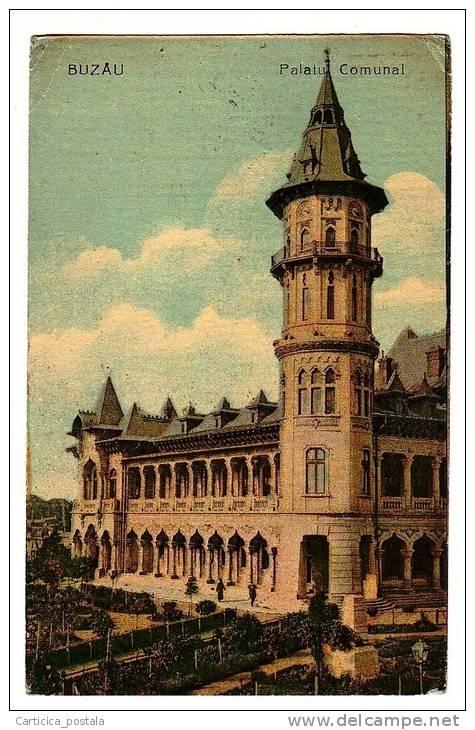 Buzau - Palatul Comunal - interbelica
