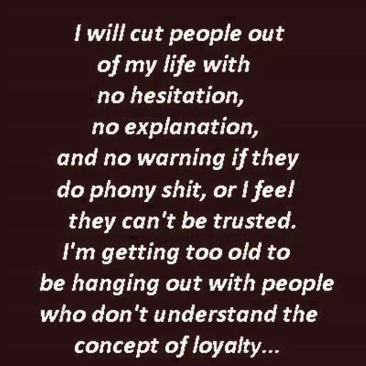 I do not care for phoney people