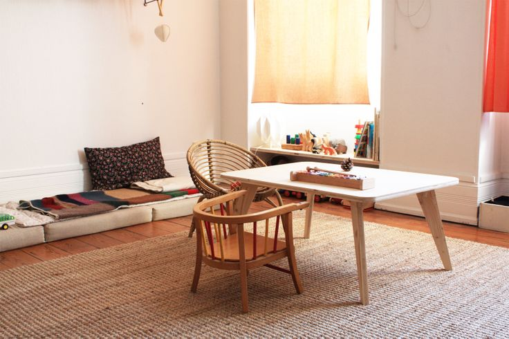 Children table. Spruce wood.  Joseph's bedroom byspielplatz.com