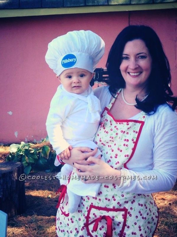 cute pillsbury doughboy baby costume and mom the baker - Bar Of Soap Halloween Costume