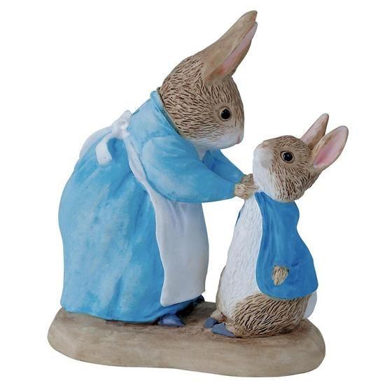 Beatrix Potter Mrs. Rabbit & Peter Rabbit Figurine