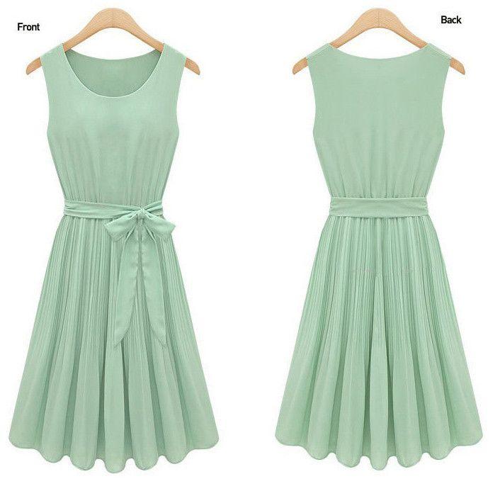 Dress in Light Green