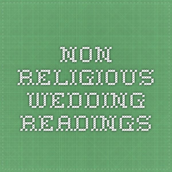 Non-religious wedding readings