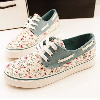 Womens Canvas Shoe City Painting Art Lace-up Running Shoes