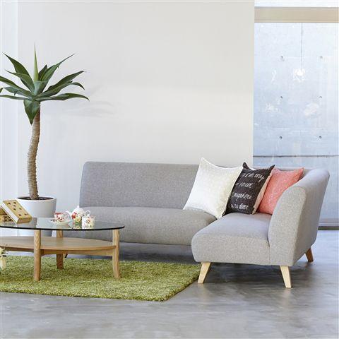 フランフランのソファ|可愛いリビングを作れるソファ8例 シンプルなグレーのフランフランのソファ
