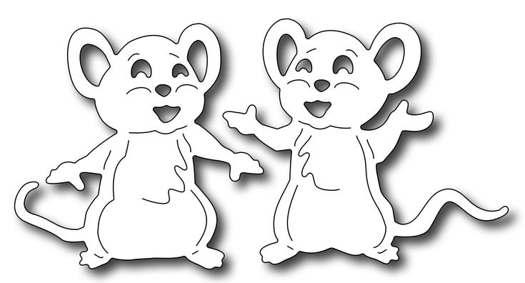 Frantic Stamper Precision Die - Cute Mice (set of 2 dies),$9.99