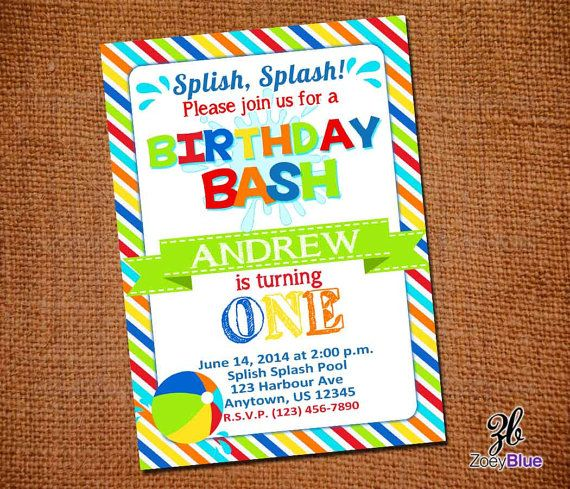 104 best Ball party images – Beach Ball Party Invitations