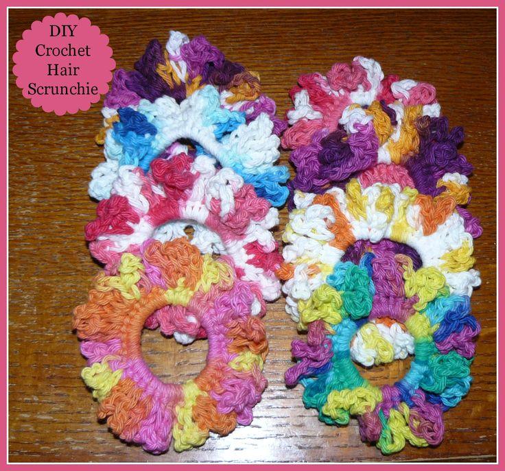 DIY Crochet Hair Scrunchies