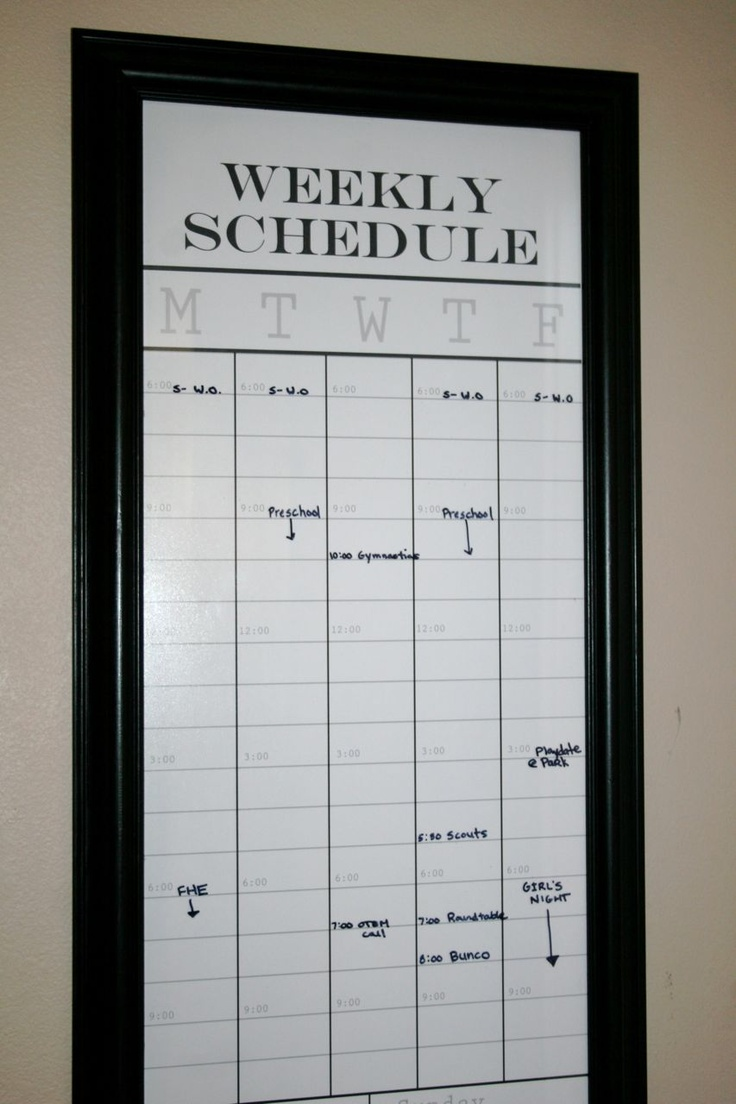Dry Erase Weekly Calendar : Best dry erase picture frame ideas images on pinterest