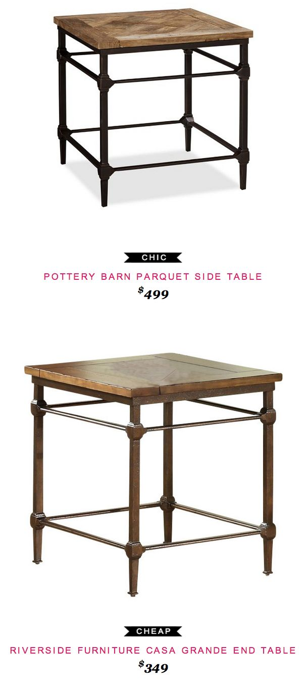 Pottery Barn Parquet Side Table Granite Coffee Table