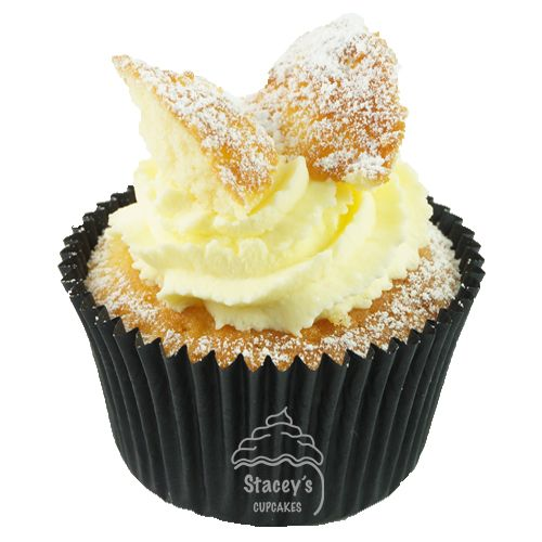 "Classic Vanilla Cupcake with Jam ""Old School with Wings"" by Stacey's Cupcakes www.staceyscupcakes.com.au"