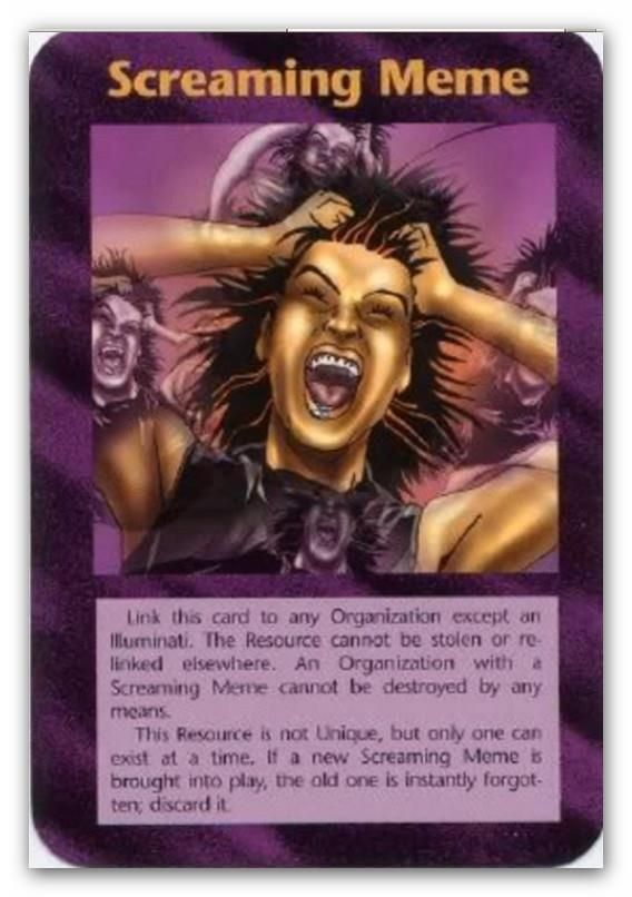 Illuminati Card Screaming Meme