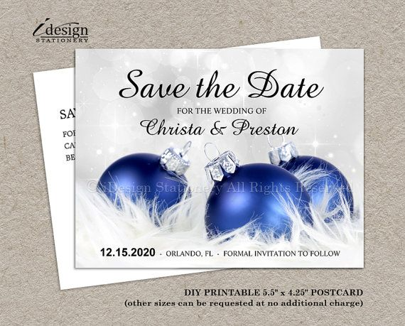 Diy Printable Christmas Save The Date Postcards Elegant Corporate Holiday Party Invitation Templates With Blue Ornaments