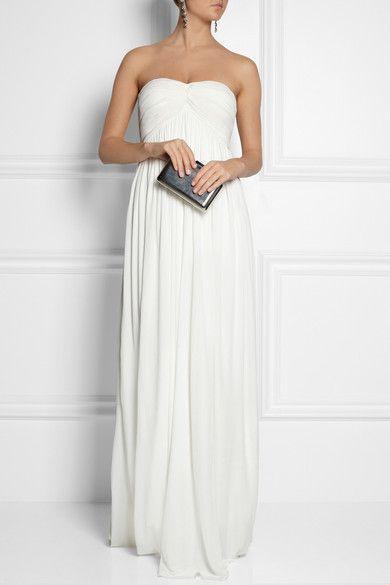 Sophia Kokosalaki - Charis Pleated Jersey-crepe Gown - White - IT44