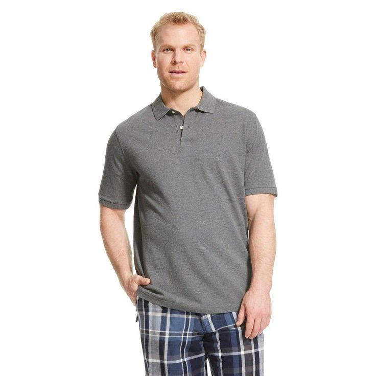 Men's Big & Tall Polo Shirt Dark Gray M Tall - Merona, Size: MT