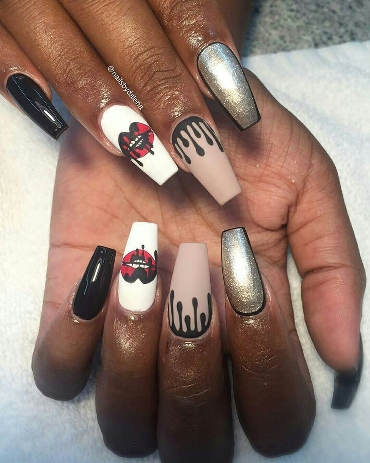 Inspired by and. Coffin NailsStiletto NailsDope ... - 487 Best Sexy And Dope Nails Images On Pinterest Sexy, Dope