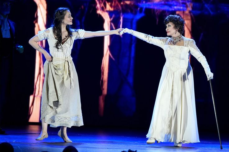 Chita Rivera and Michelle Veintimilla perform in 'The Visit' onstage at the 2015 Tony Awards.