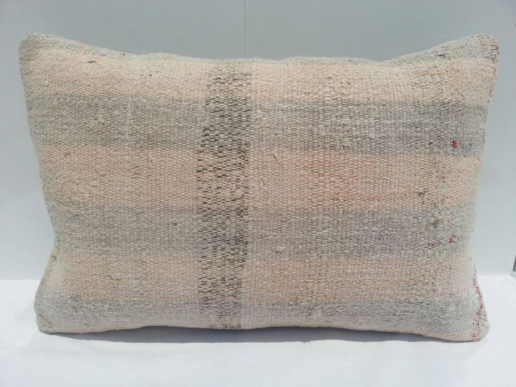 Vintage Kilim Pillow Lumbar, overdyed Pillow Lumbar, Handwoven Decorative Turkish Kilim Pillow 16x24 inches by Simavrug on Etsy
