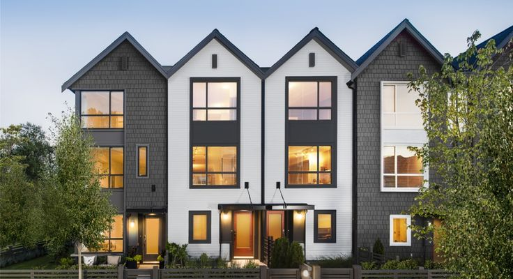 630 best modern townhomes images on pinterest for Townhouse modern design exterior