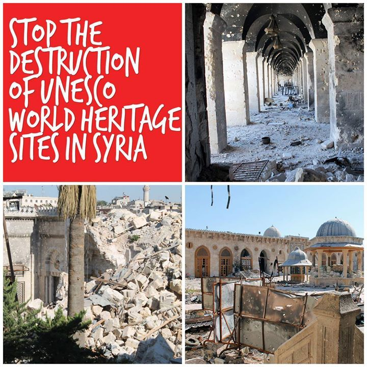 The World Heritage City of Aleppo has again been hit by a major explosion against the Carlton Citadel Hotel, a building from the turn of the 20th century in the vicinity of Aleppo's Citadel and adjacent to its souks. Heritage should not be taken hostage in the conflict http://ow.ly/wHFDG