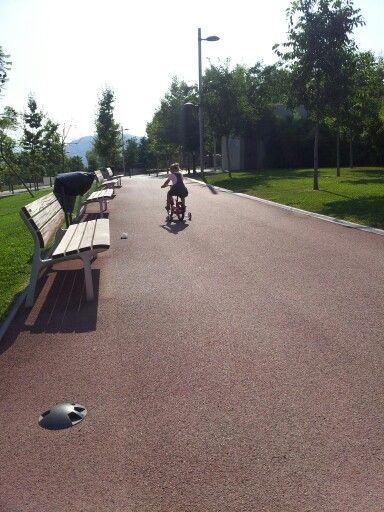 Park near Cubics in Santa Coloma de Gramenet (Spain)