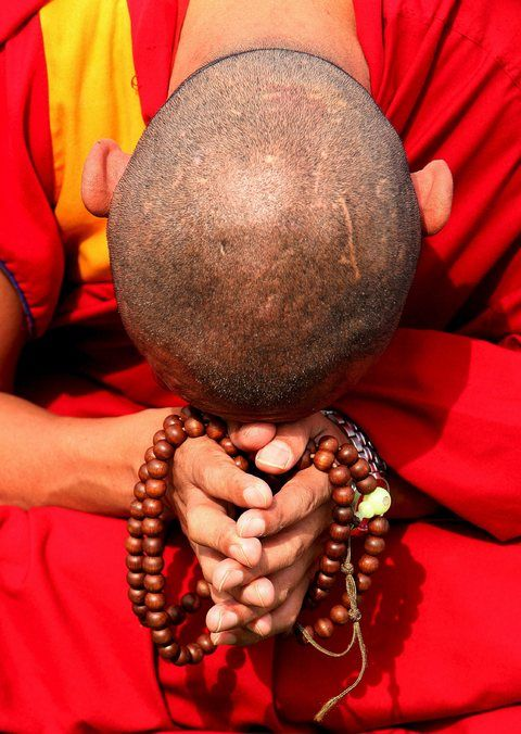 The ideals at the heart of Buddhism are collectively known as the 'Three…
