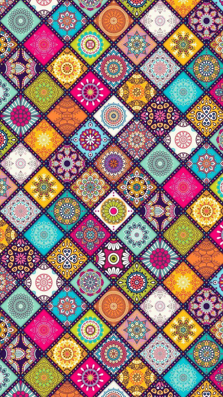 Imagen Descubierto Por Pinksn0wflake Descubre Y Guarda Tus Propias Imagenes Y Videos En We Heart I Colorful Wallpaper Mandala Wallpaper Abstract Wallpaper