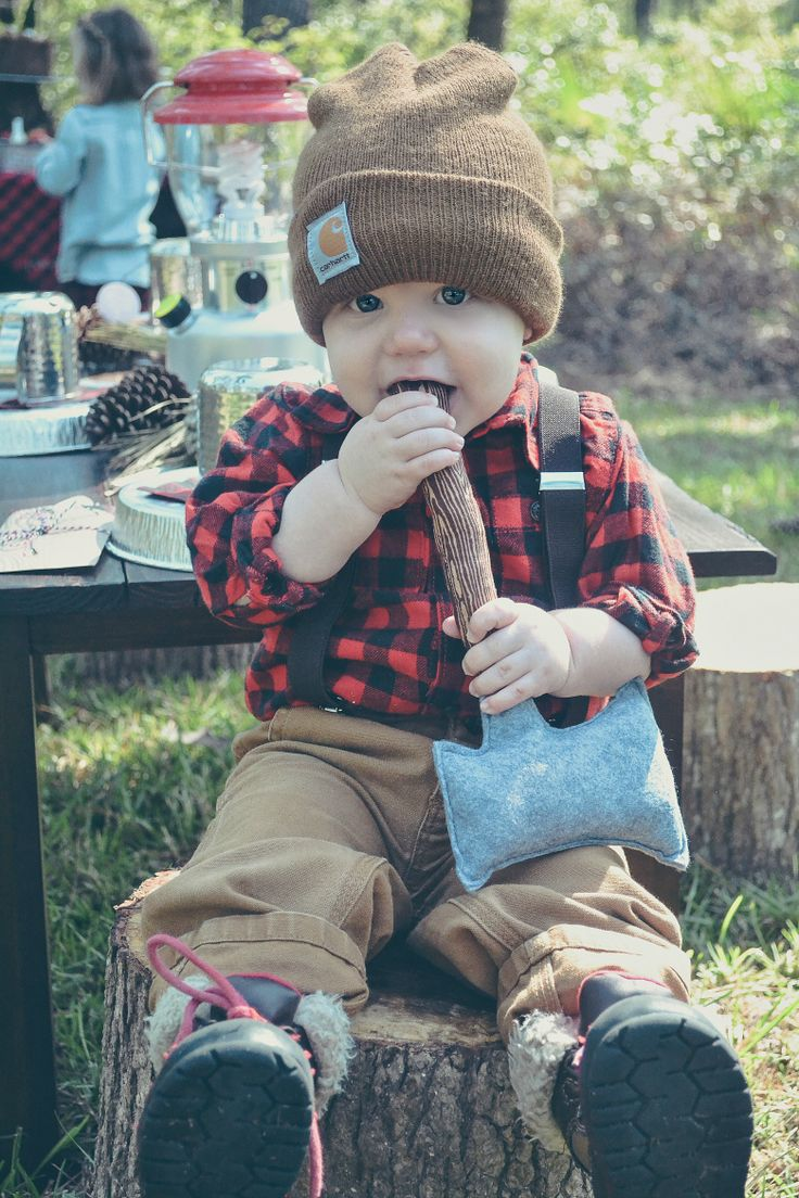 How about a cute little lumber jack this Halloween?
