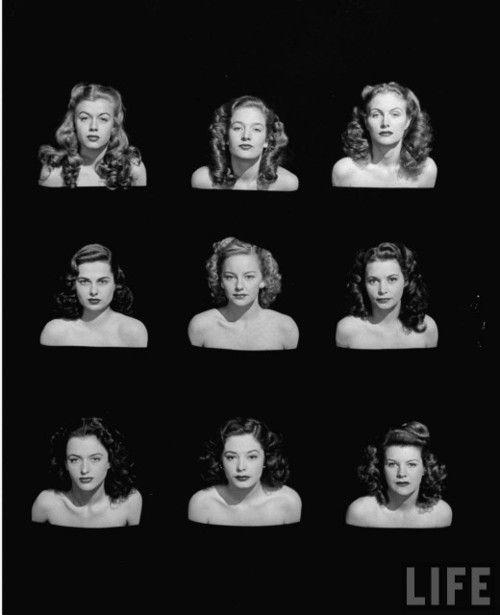 (via Hopeful Starlets, Los Angeles, 1946 | Retronaut)  Photo by Bob Landry: Hair Ideas, Bobs Landri, Vintage Hair, Hollywood Starlet, Life Magazines, The Angel, Hair Style, 40S Hair, Hope Starlet