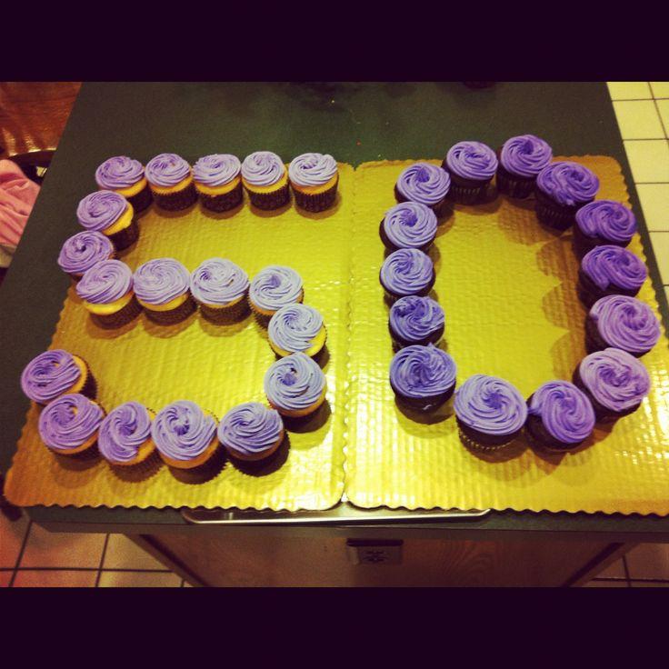 Mom S 50th Birthday Cupcakes Yummy Food 50th