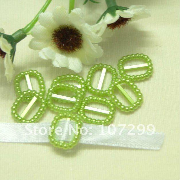 Shipping-100pcs мята прямоугольная форма свадьба благосклонности благосклонности коробка декор жемчуг пряжка для свадьба приглашение лента слайдер