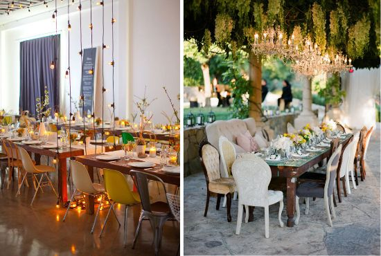 Funky Wedding: Idee per un matrimonio anticonvenzionale: le sedie spaiate *Mismatched wedding chairs*