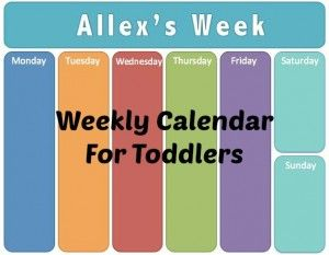 Weekly Toddler Calendar
